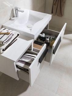 #Baños prácticos y dinámicos con la colección modular Flow de #Gamadecor #Muebles de #baño #Furniture #bathroom