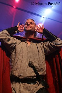 Chrileon - Twilight Force ⚫ Photo by Martin Pavičić ⚫ Huskvarna 2016 ⚫ #TwilightForce #music #metal #concert #gig #musician #Chrileon #singer #vocalist #frontman #singing #microphone #bracers #coat #leather #beard #earrings #blond #longhair #festival #photo #fantasy #magic #cosplay #sword #larp #man #onstage #live #celebrity #band #artist #performing #Sweden #Swedish #Huskvarna #FolketsPark