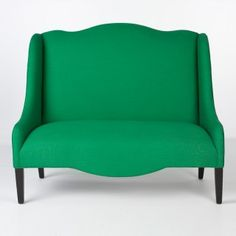 Love the shape and colour of this loveseat from South of Market