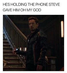 Is Tony holding the phone Steve gave him? Who knows it'd be really cool if he was we'll just have to wait and see.   Captain America Civil War  Avengers Infinity War trailer Tips for League of legends so hot
