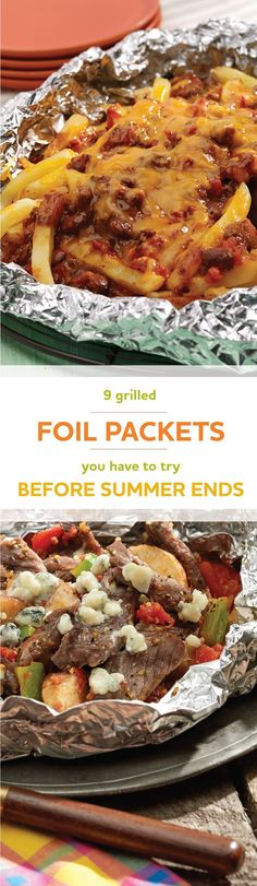 Foil Packet Dinners that Practically Clean Up After Themselves Check out these 9 grilled foil packets you have to try before summer ends!Check out these 9 grilled foil packets you have to try before summer ends! Tin Foil Dinners, Foil Packet Dinners, Foil Pack Meals, Hobo Dinners, Clean Dinners, Pastas Recipes, Meat Recipes, Cooking Recipes, Recipes Dinner