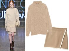 17 Foolproof Sweater-and-Skirt Combos to Wear This Fall - Turtleneck + Matching Mini  - from InStyle.com