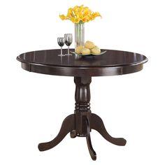 East West Furniture Hartland 42 Inch Round Pedestal Dining Table - HLT-CAP-T