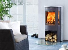 Contura 560T with soapstone covering #stove #woodburningstove #contemporarystove