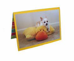 Chihuahua Greeting Card Blank Dog Card Dog Duck by Lillyzcardz, $4.00