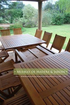 Mesa y sillas de madera para patios mesas pinterest for Sillas para quincho