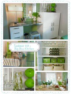small desk in kitchen * apple green