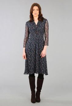 LIBERTY PRINT CHIFFON DRESS - Women's Dresses | Brora