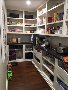 Counter And Plugs In Pantry So Small Kitchen Appliances Can Be Used In The  Pantry