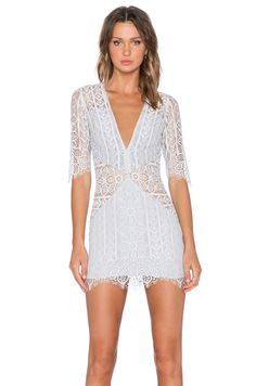 For Love & Lemons Lyla Cocktail Dress in Silver | REVOLVE