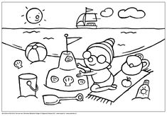 Coloring Pages Puk - beach coloring pages - beach - 2019