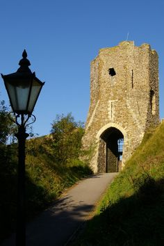 Medieval Colton Gate or Tower, Harold Earthwork, Dover Castle, Kent, England. A Norman tower built on a Saxon or even earlier base.