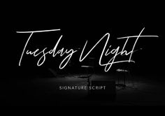 Tuesday Night Font - 73 Best Free Fonts to Create Stunning Designs in 2018 Word Fonts, Handwriting Fonts, Script Fonts, Typography Fonts, Hand Lettering, Pretty Handwriting, Best Fonts For Logos, Best Free Fonts, Font Free