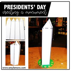 FREE Printable activity: Students build  a 3D version of The Washington Monument!
