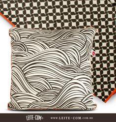 Almofada e manta de sofá coleção Bixiga LEITE-COM®