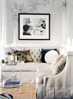 A glamorous living space by Michael Wells.  The sectional is incredible!