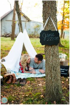Engagement Photography; Meagan and Nate Photography; Fall Engagement Photography; Save The Date Idea; Camping Engagement Photography