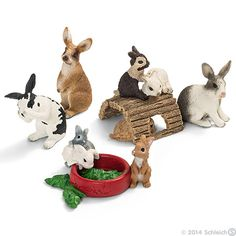 Rabbits by Schleich.