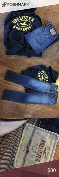 """Hollister outfit! """"NEW"""" Great Christmas gift! My son decided he didn't like it after I took the tags off. Great Christmas gift! Hollister Jeans Skinny"""