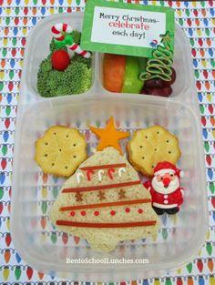 Christmas Tree Bento #Lunchbox   Bento School Lunches