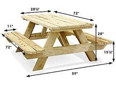 Economy A-Frame Wooden Picnic Table – – Uline Economy A-Frame Picknicktisch aus Holz – 6 & # – Uline Diy Garden Furniture, Diy Outdoor Furniture, Pallet Furniture, Furniture Projects, Furniture Plans, Recycling Furniture, Rustic Furniture, Diy Picnic Table, Wooden Picnic Tables