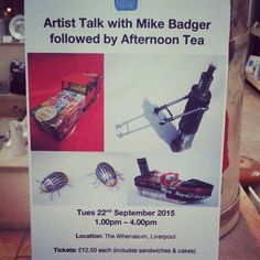 Our next artist talk will be given by Mike Badger. This event is open to current & new members of Bluecoat Display Centre & The Athenaeum.Call Bluecoat Display Centre on 0151 709 4014 to book a place.