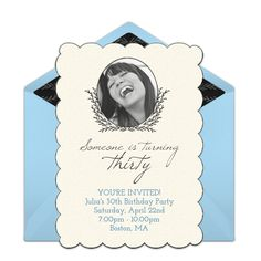 30th Birthday Photo Invitations