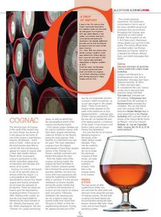 All about cognac in the 2012 A-Z of Food & Drink in Poitou-Charentes. Includes details of visits to Cognac houses, traditions and a map of the region.