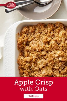 Apple Crisp No Oats, Happy Birthday Cookie, Birthday Cookies, Betty Crocker Apple Crisp, Apple Recipes, Fall Recipes, Delicious Desserts, Dessert Recipes, Apple Bars