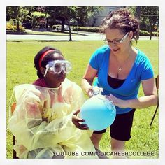 Our student, staff and faculty played games and had lots of fun at the event in Victoria, BC #students #faculty #staff #games #fun #lotsoffun #funny #goggles #event #balloon #foam #CDICollege #Canada #Victoria #BC #Canada #collegelife