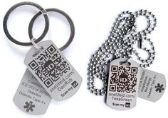 ID tags manufactured from Stainless Steel and laser marked using thinklaser fiber marking system