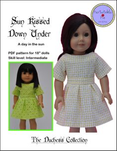"Sun Kissed Down Under Dress 18"" Doll Clothes"