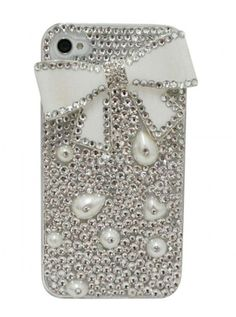 Bow + Crystal Bling Iphone Case <3 http://9thelm.com/large-bow-with-crystals-iphone-4-4s-case.html?medium=HardPin=Pinterest=type294=hardpin_type294