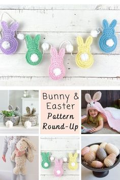 the best easter bunny crochet pattern round up Designer Knitting Patterns, Kids Knitting Patterns, Knitting For Kids, Free Knitting, Easter Bunny Crochet Pattern, Crochet Rabbit, Spring Crafts, Holiday Crafts, Bunny Blanket
