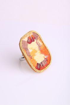 Embroidered Gem Stone Ring by Grace Sheldrick. www.gracesheldrick.com