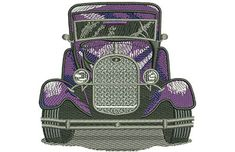 Classic Ford Car Machine Embroidery Design or Pattern