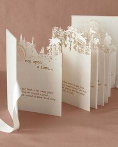 A fairytale wedding invitation with cut out art!! LOVE