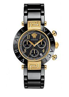 Versace - Black and gold Reve Ceramic ($2,495)