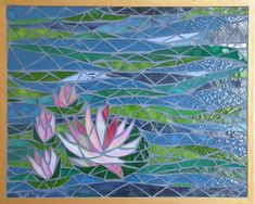 Water Lilies. Lovely, serenely soothing use of line and color.