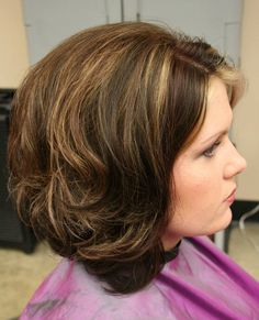 Long Layered Stacked Bob Haircut for Curly Wavy Hair