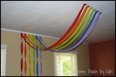 rainbow out of streamers!!!