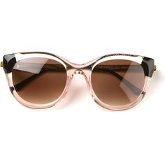 Thierry Lasry Dirtymindyy pale transparent pink sunglasses found on Polyvore