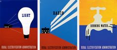 1937, Lester Beall : Rural Electrification Campaign