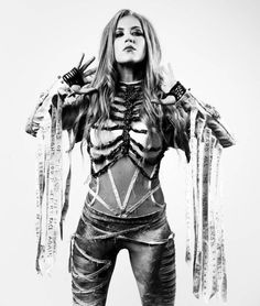 """voice-of-anarchy:"""" Alissa White-Gluz © German Metal Hammer September Chica Heavy Metal, Heavy Metal Bands, Ladies Of Metal, Metal Girl, Biker Chick Outfit, Female Rock Stars, The Agonist, Metal Health, Alissa White"""