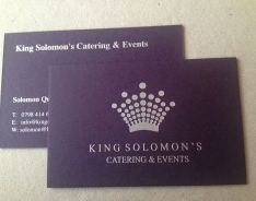 540gsm amethyst business card; foils: silver  Please visit our website at www.ultimatebusinesscards.co.uk for further information on our range of custom made business cards.