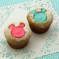Mickey cup cakes