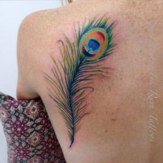 Peacock Feather Tattoo on my shoulder