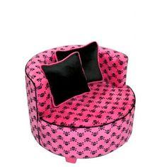 skull furniture for sale   Redondo Chair Minky Hot Pink Skull 70127   CozyDays