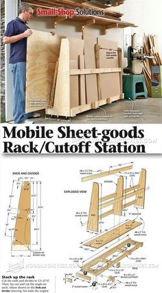 Sheet Storage Rack Plans - Workshop Solutions Projects, Tips and Tricks | WoodArchivist.com