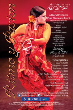 Ritmo y Pasion presented by Ballet Flamenco La Rosa as part of The Miami Dance Festival Sunday  May 4th http://boompromotions.com/Ritmo-y-Pasion-Presented-by-Ballet-Flamenco-La-Rosa-as-part-of-The-Miami-Dance-Festival.html  #flamenco #dance #music #miami Limited Seating Please RSVP to 305-899-7729 or panmiami@aol.com  PAN, Performing Arts Network 13124 West Dixie Hgwy, North Miami, 33161